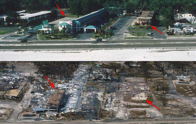 Gulfport, Mississippi Before and After Katrina
